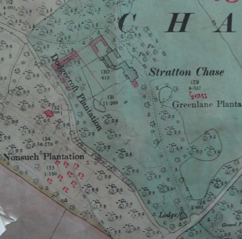 Map of Stratton Chase and immediate vicinity
