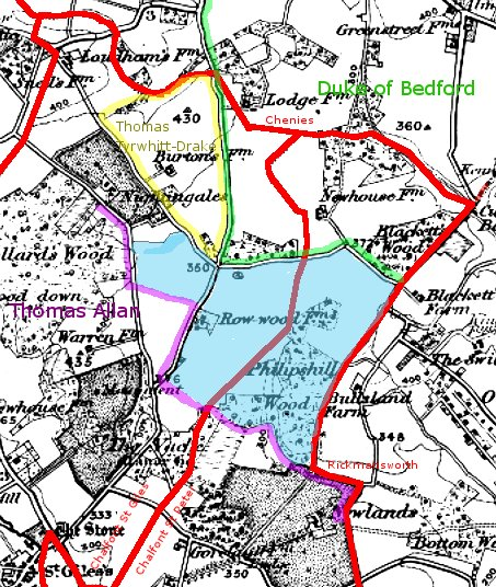 Rowwood estate location map.