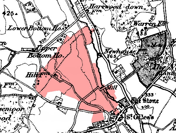 Map of extent of Stratton Chase